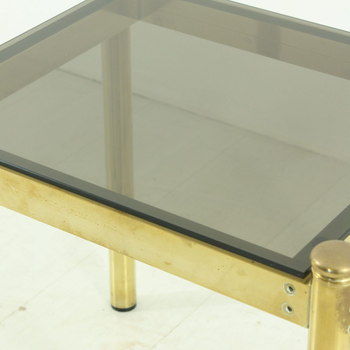 Vintage Brass Coffee Table With Smoked Glass Top 5. Price: $523.00 Regular  Price: $565.00