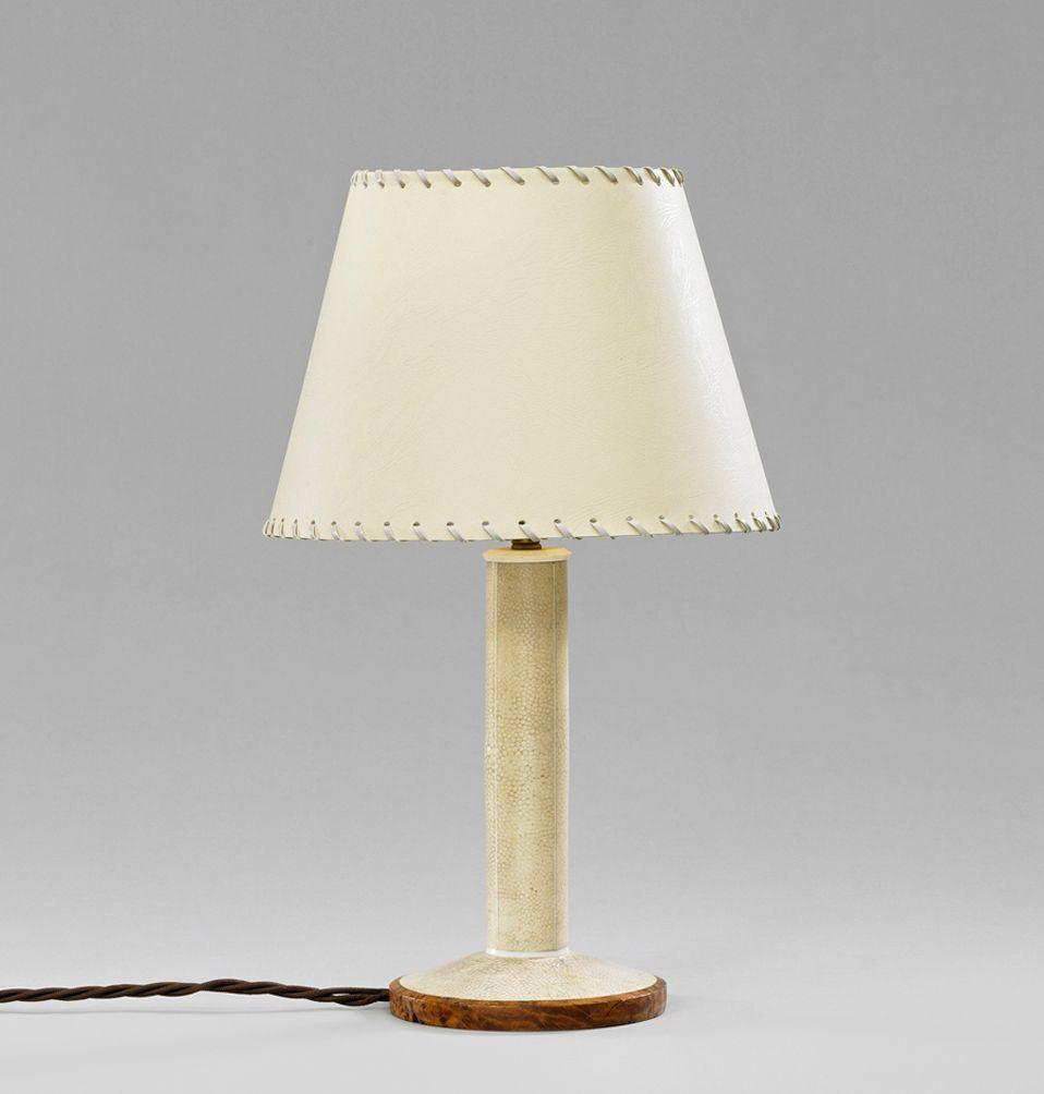 Rochenhaut Tischlampe von Clement Rousseau, 1930er