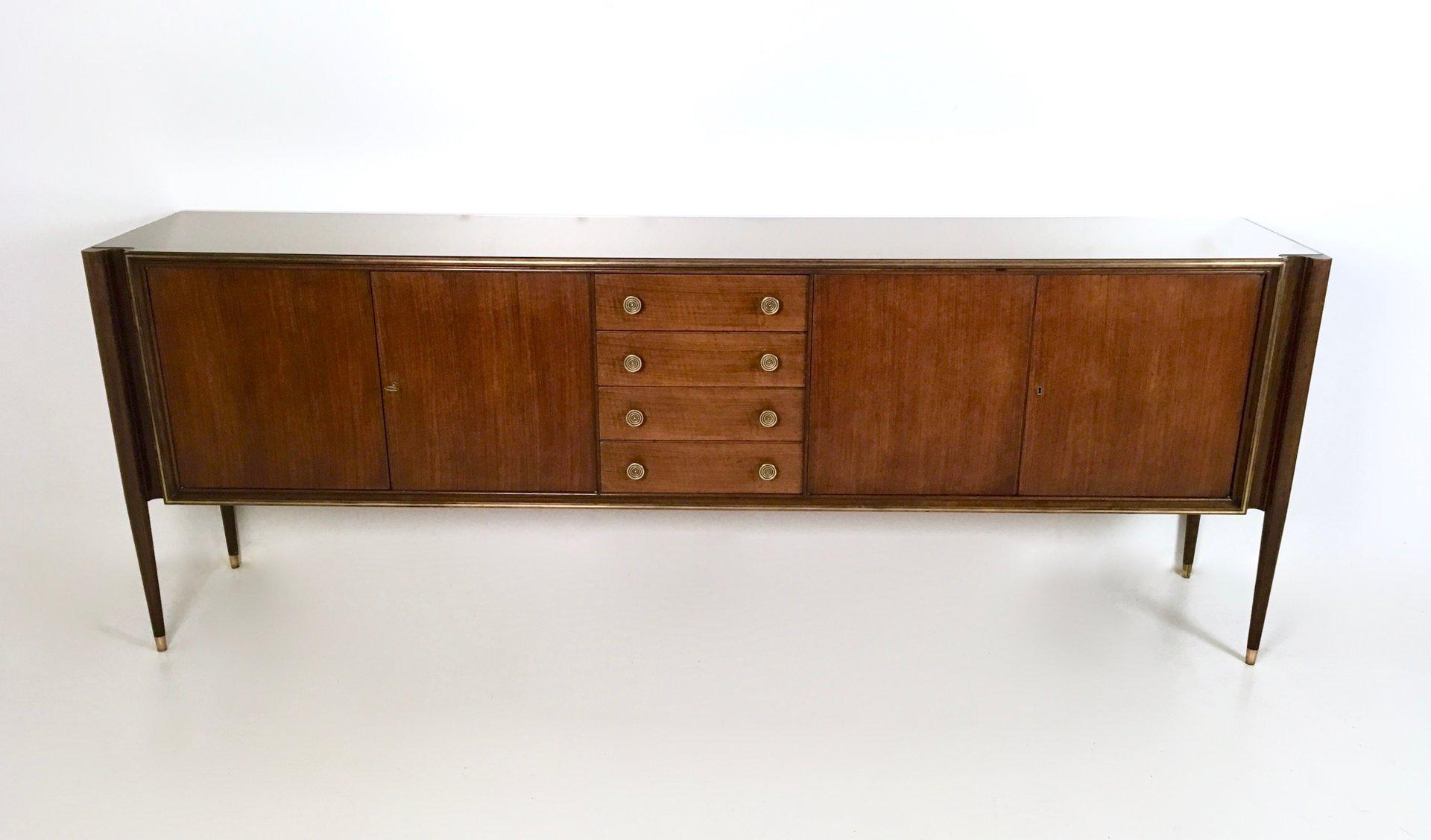 Italienisches Nussholz Sideboard, 1950er