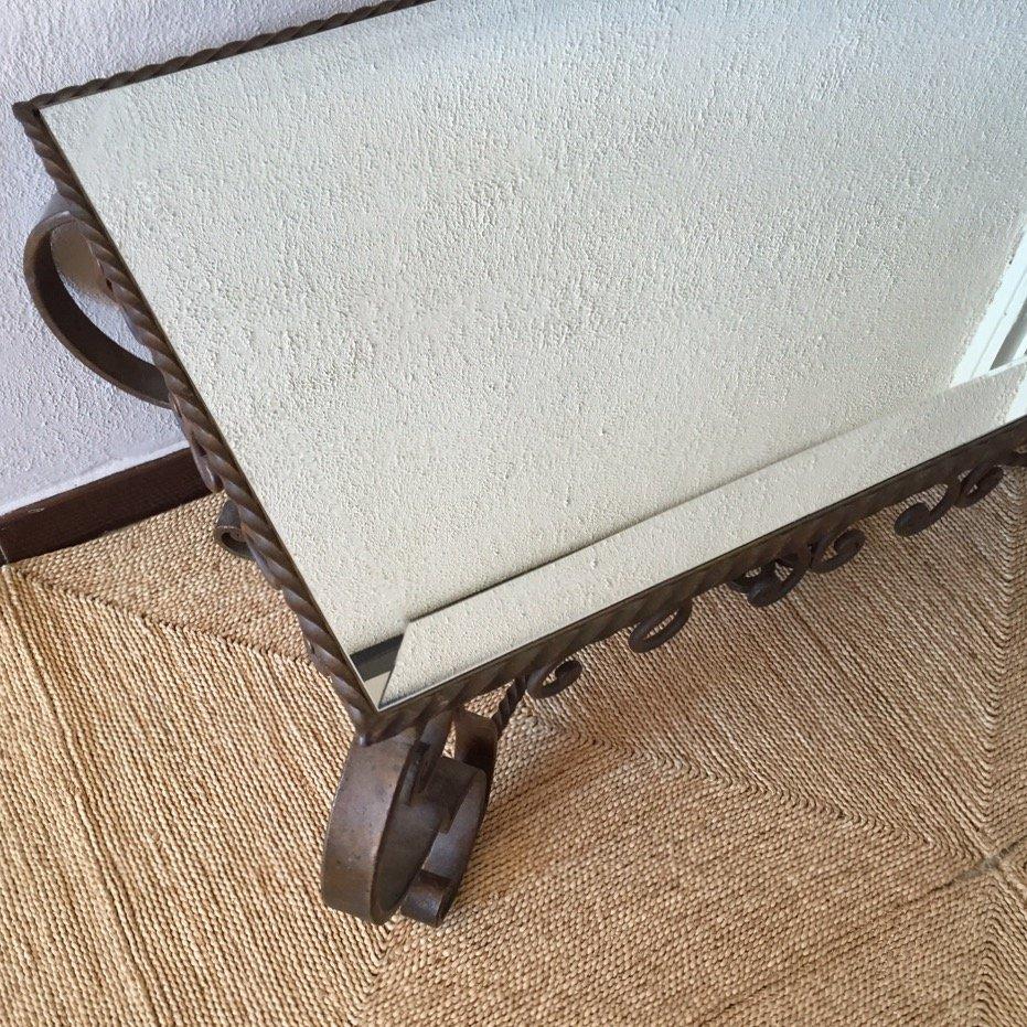 table basse miroir 1950s en vente sur pamono. Black Bedroom Furniture Sets. Home Design Ideas