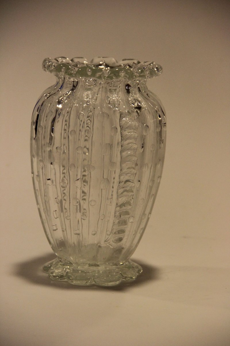 Antique Danish Mouth Blown Glass Vase For Sale At Pamono