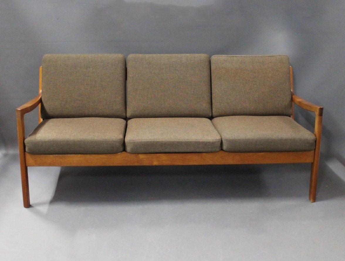 Senator 166 Drei-Sitzer Sofa von Ole Wanscher für France & Son, 1960er