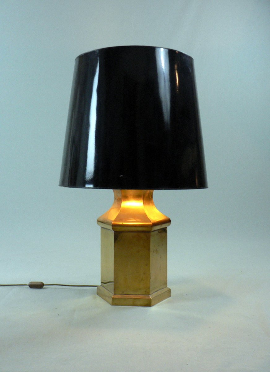Lampada da tavolo vintage in ottone anni 39 70 in vendita su pamono - Lampada da tavolo vintage ...