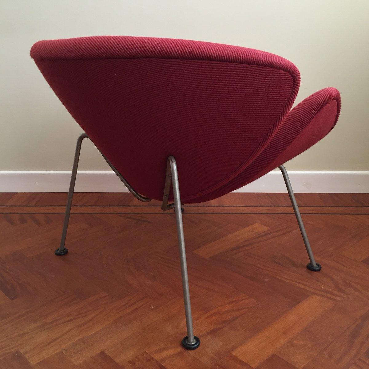 fauteuil vintage orange par pierre paulin pour artifort en vente sur pamono. Black Bedroom Furniture Sets. Home Design Ideas