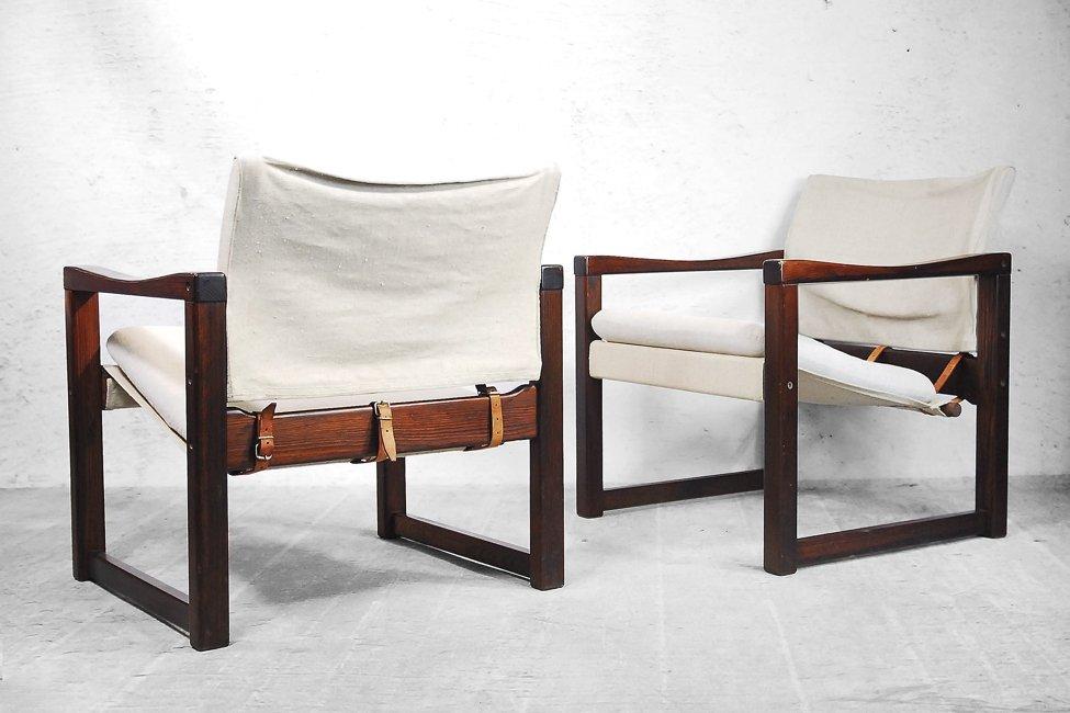 chaises scandinaves diana safari en tissu par karin mobring pour ikea 1972 set de 2 en vente. Black Bedroom Furniture Sets. Home Design Ideas