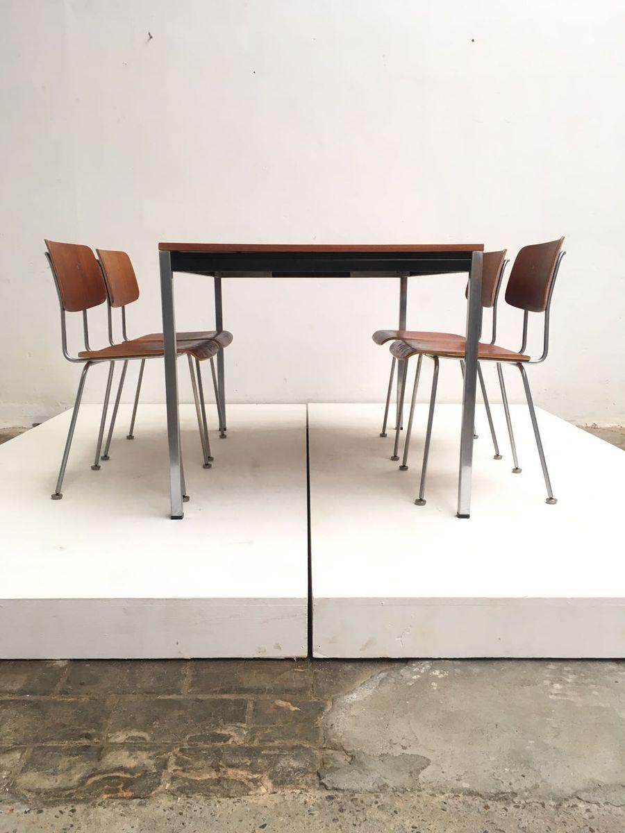 Sedie e tavolo da pranzo modello 1263 di a r cordemeyer for Sedie per tavolo da pranzo