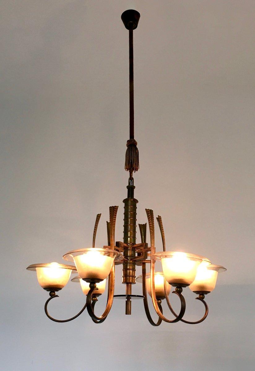 lustre en verre murano 1930s en vente sur pamono. Black Bedroom Furniture Sets. Home Design Ideas