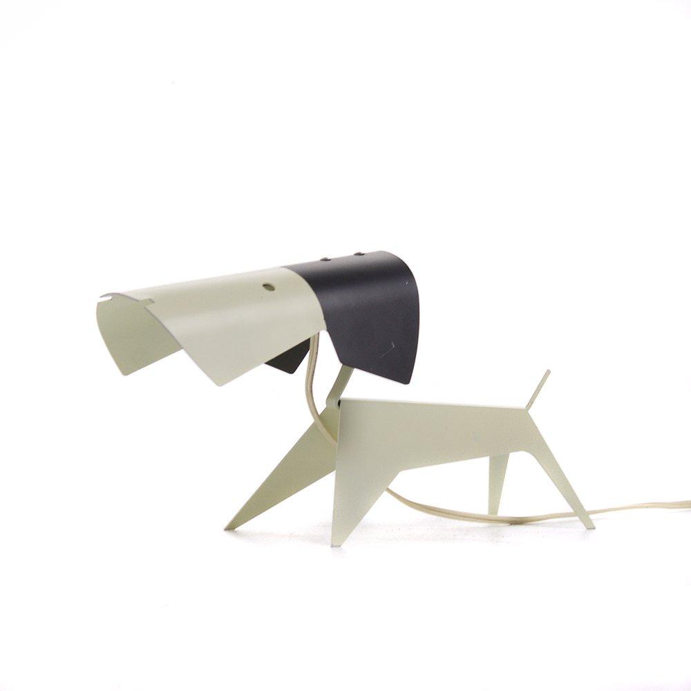 Vintage Hund Tischlampe von Jean Boris Lacroix für Disderot, 1950er
