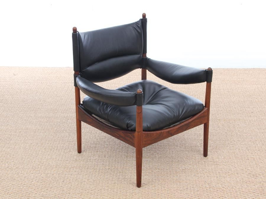 mid century danish modern lounge sessel mit fu hocker von kristian vedel f r soren willadsen. Black Bedroom Furniture Sets. Home Design Ideas