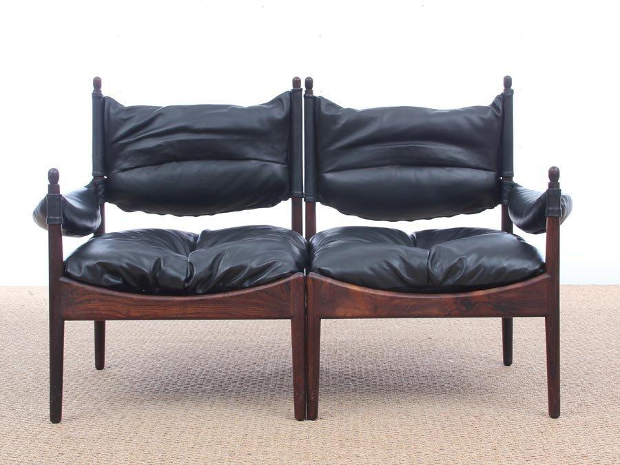 Mid Century Modern Danish Two Seater Sofa By Kristian Vedel For Soren Willadsen 1963