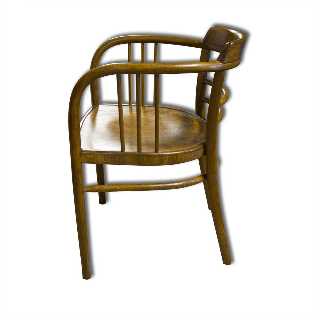 Antique Beech Armchair By Gustav Siegel For Thonet 1907