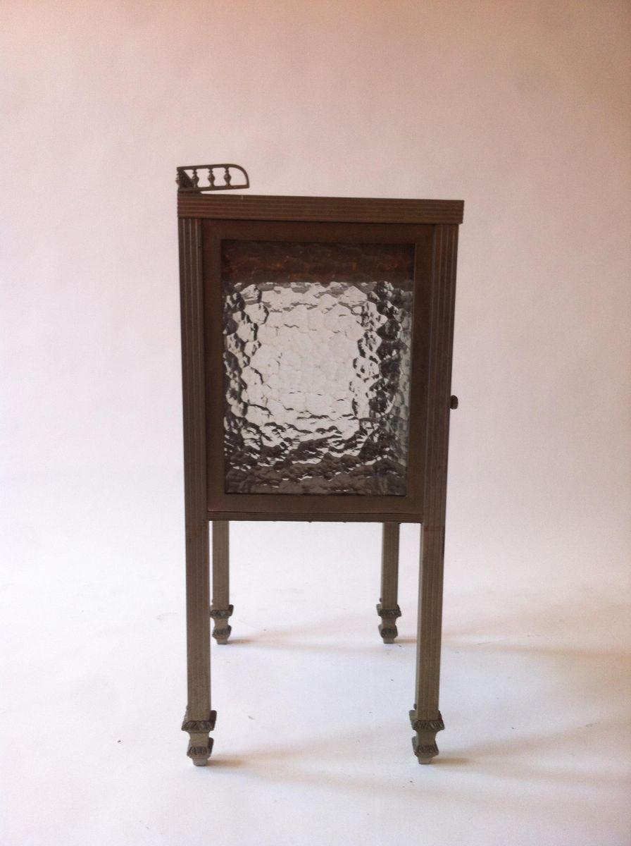 spanischer art deco messing nickel glas beistelltisch 1930er bei pamono kaufen. Black Bedroom Furniture Sets. Home Design Ideas