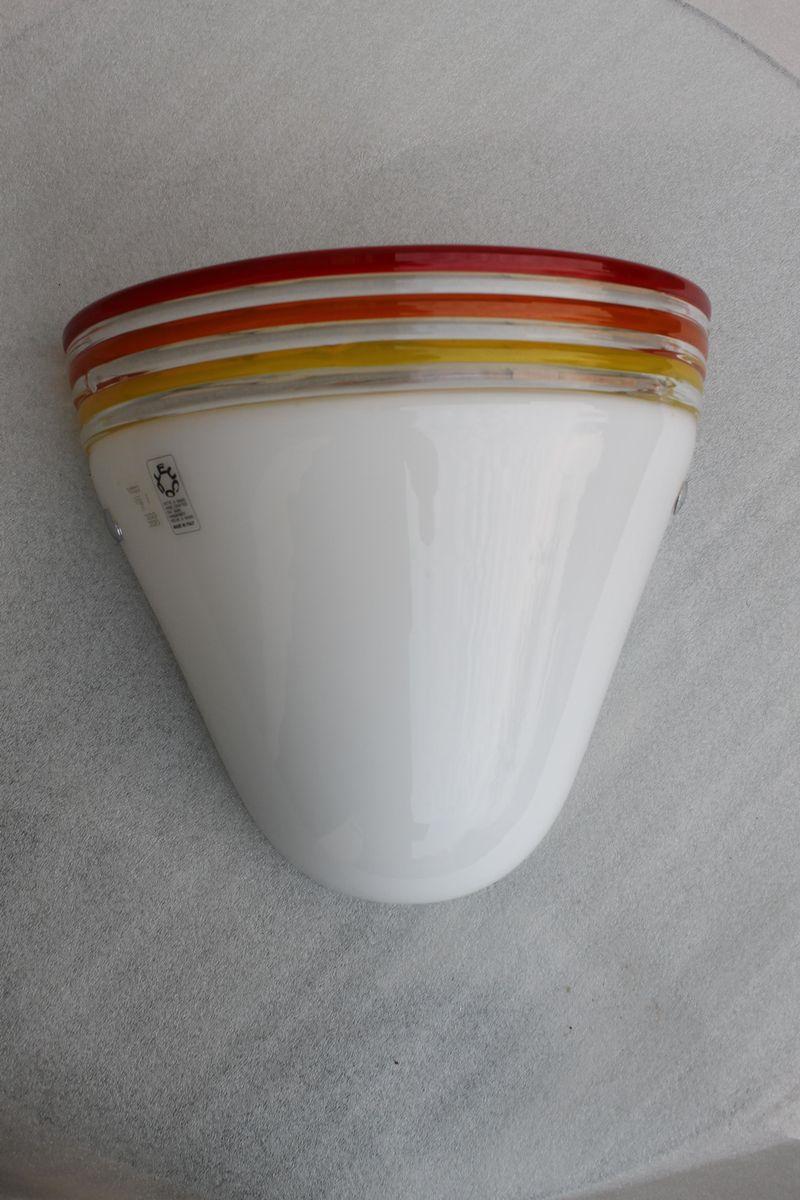 Murano Glas Wandlampe von R. Pamio & R. Toso für Leucos, 1970er