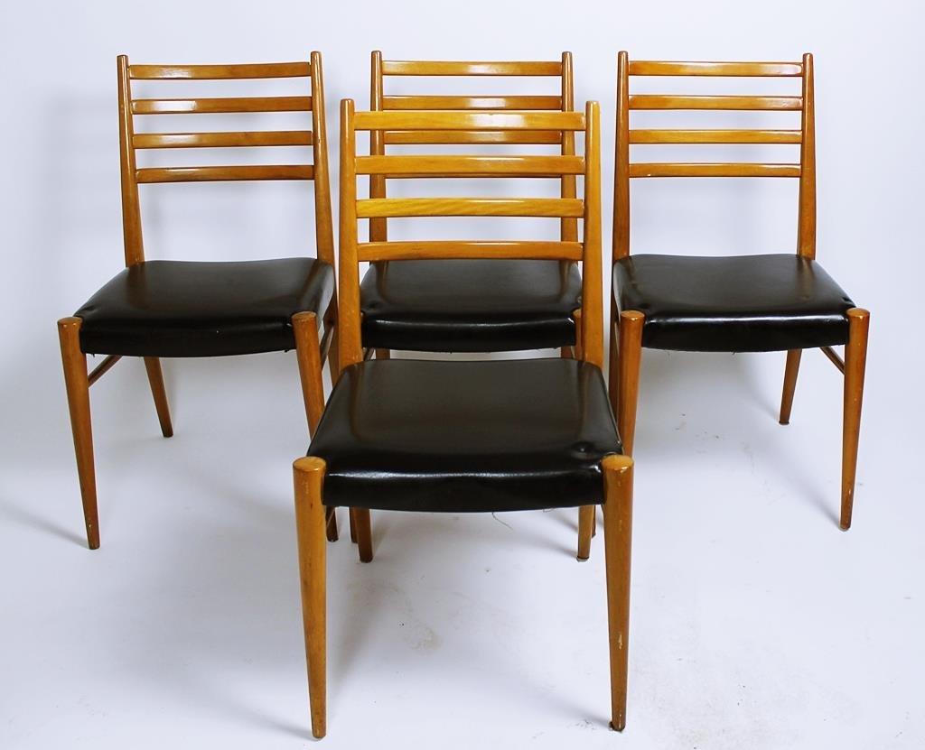 sterreichische st hle von wiesner hager 1950er 4er set bei pamono kaufen. Black Bedroom Furniture Sets. Home Design Ideas