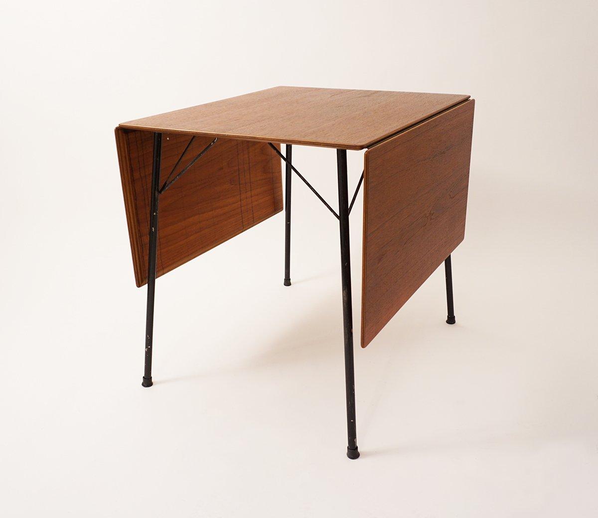 Mid-Century Klapptisch Modell 3601 von Arne Jacobsen für Fritz Hansen