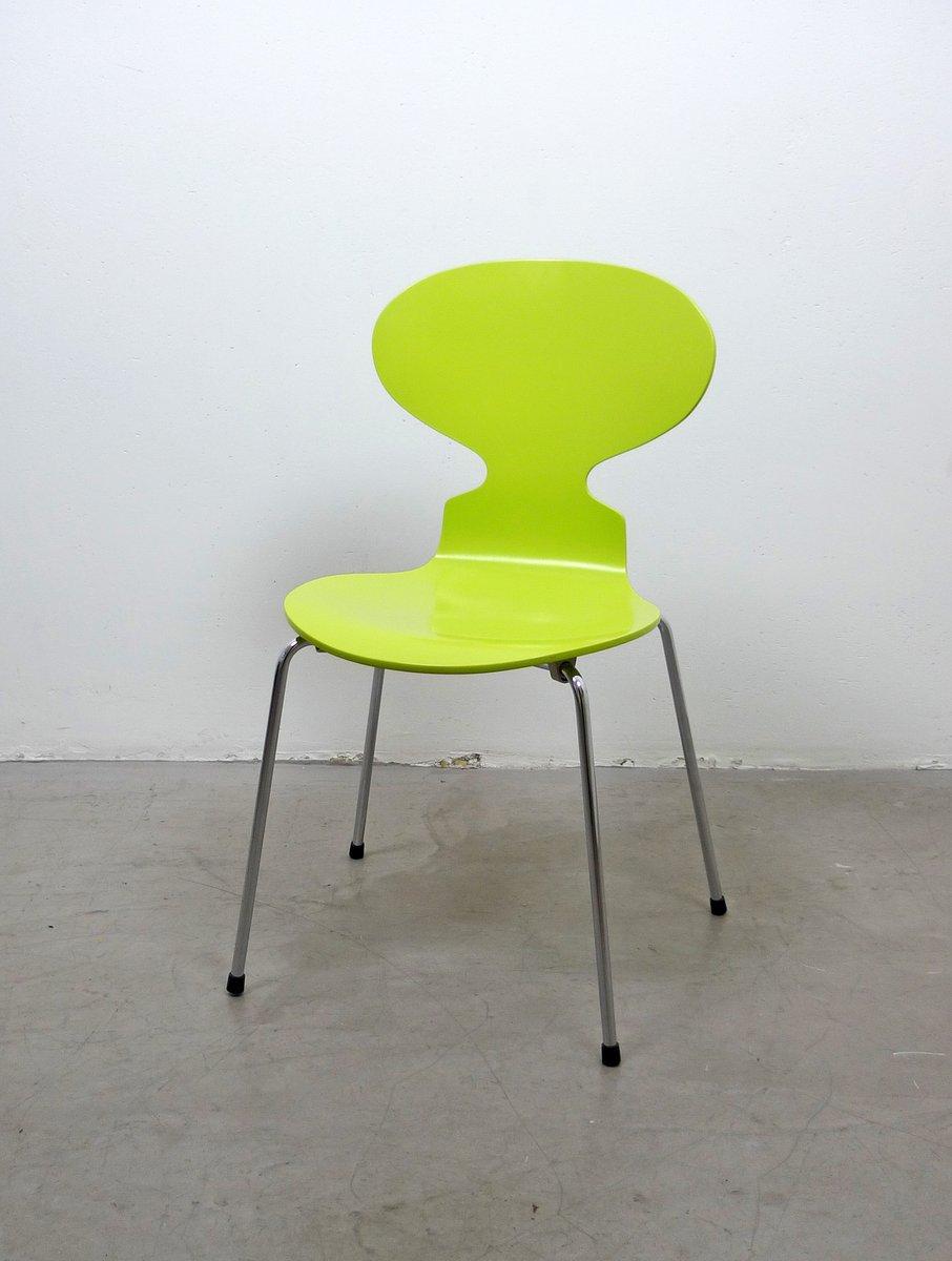 chaise fourmi 3101 verte par arne jacobsen pour fritz hansen 1950s en vente sur pamono. Black Bedroom Furniture Sets. Home Design Ideas