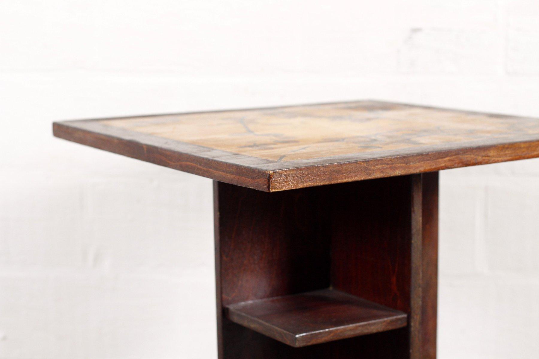 art deco beistelltisch mit gemusterter tischplatte bei. Black Bedroom Furniture Sets. Home Design Ideas