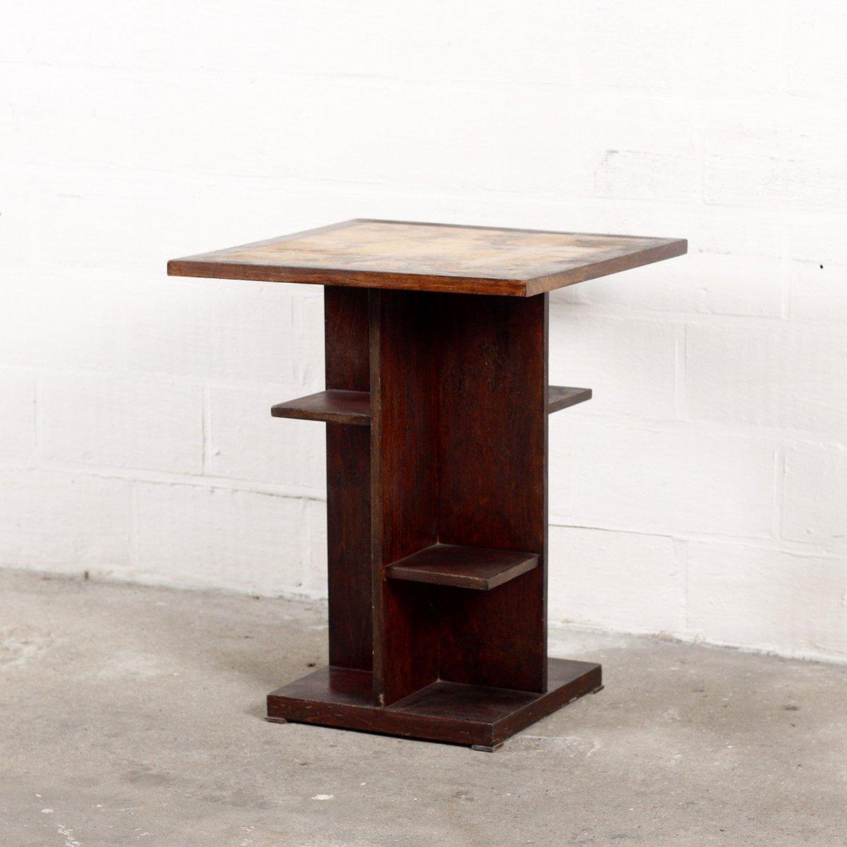 Art Deco Beistelltisch mit Gemusterter Tischplatte