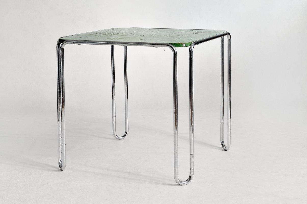 b10 tisch von marcel breuer 1930er bei pamono kaufen. Black Bedroom Furniture Sets. Home Design Ideas