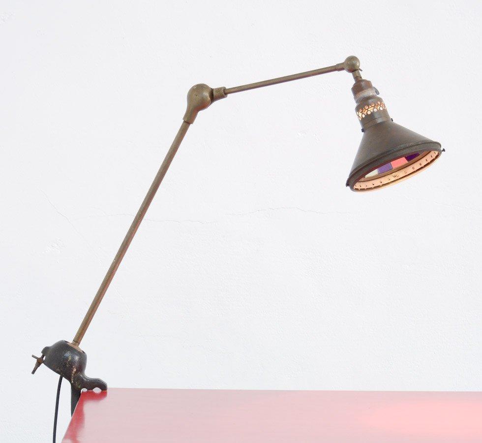Handgemachte Industrie Schreibtischlampe, 1920er