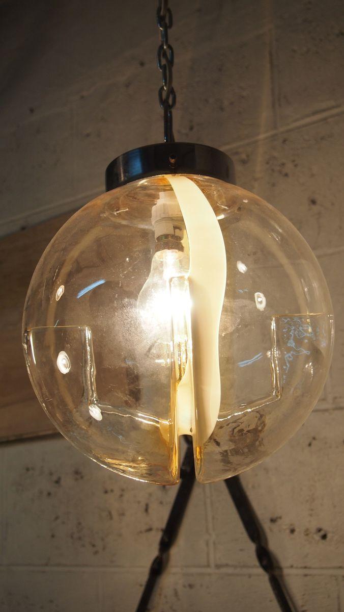 lampe suspension en verre fum par toni zuccheri pour venini 1960s en vente sur pamono. Black Bedroom Furniture Sets. Home Design Ideas