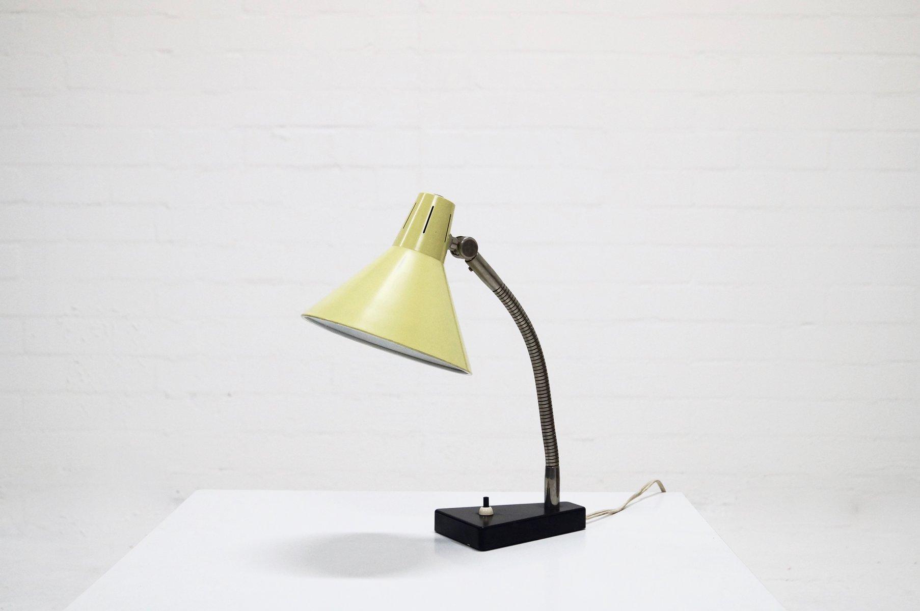 Mid Century Metal Desk Lamp By Busquet For Hala Zeist 1950s