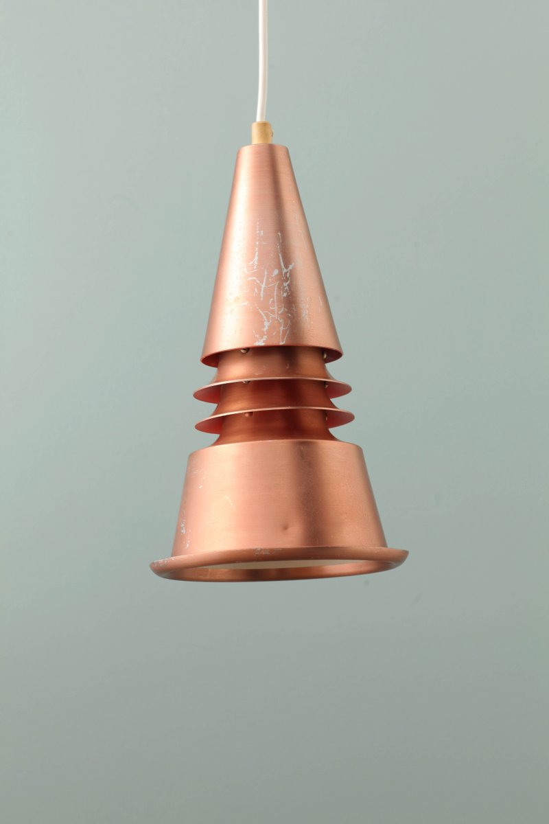 Kegelförmige Vintage Lampe aus Kupfer