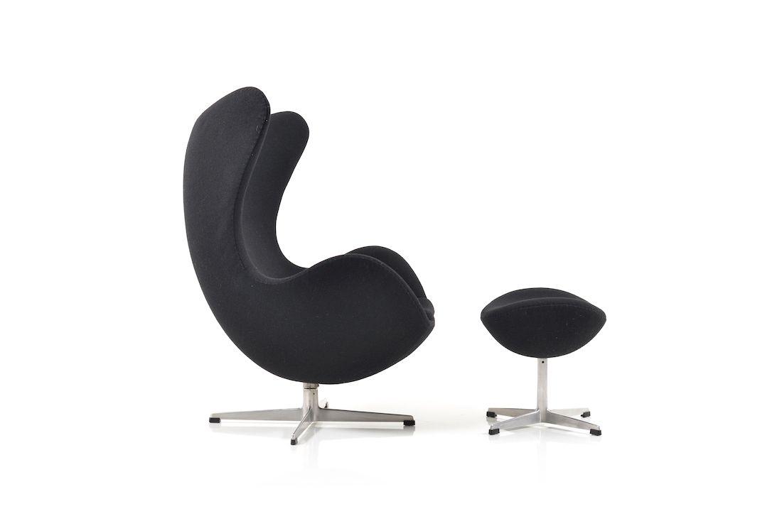 The Egg Chair & Ottoman von Arne Jacobsen für Fritz Hansen, 1963