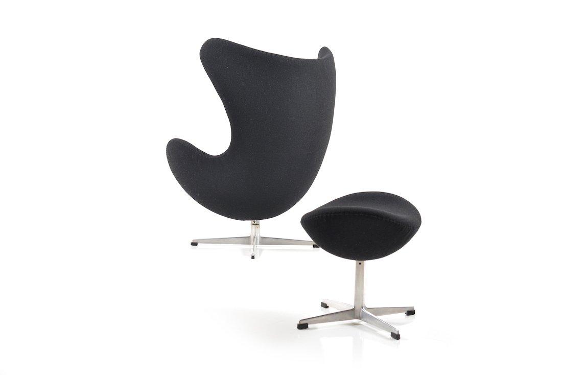 The Egg Chair Ottoman Von Arne Jacobsen Für Fritz Hansen 1963 Bei