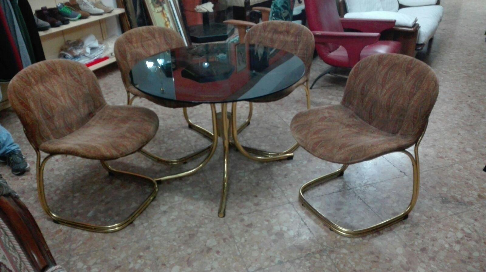 Tavolo e sedie di gastone rinaldi per rima anni 70 in vendita su