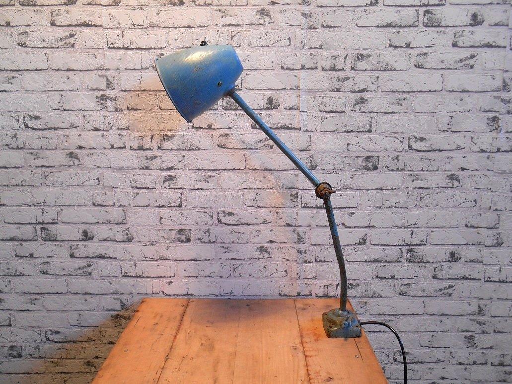 Blaue Industrielle Tischlampe