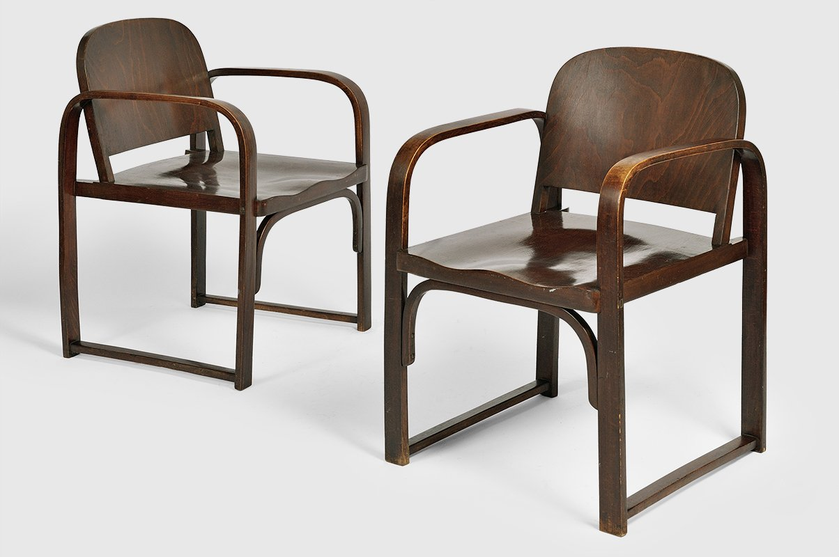 vintage modell a 745 f bugholz stuhl von thonet bei pamono kaufen. Black Bedroom Furniture Sets. Home Design Ideas