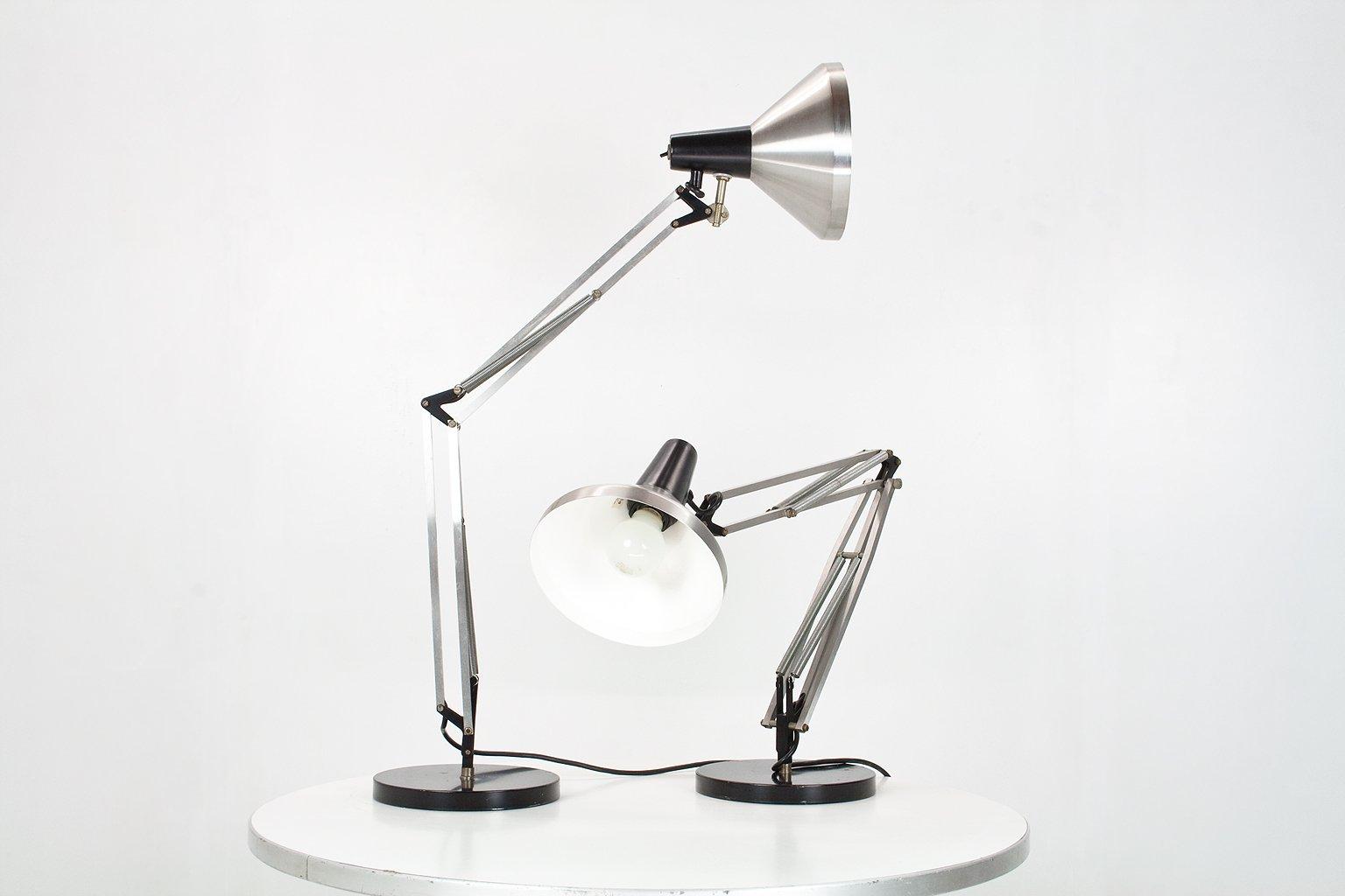 Niederländische Industrie Gelenk-Schreibtischlampen von Hala, 1967, Se...