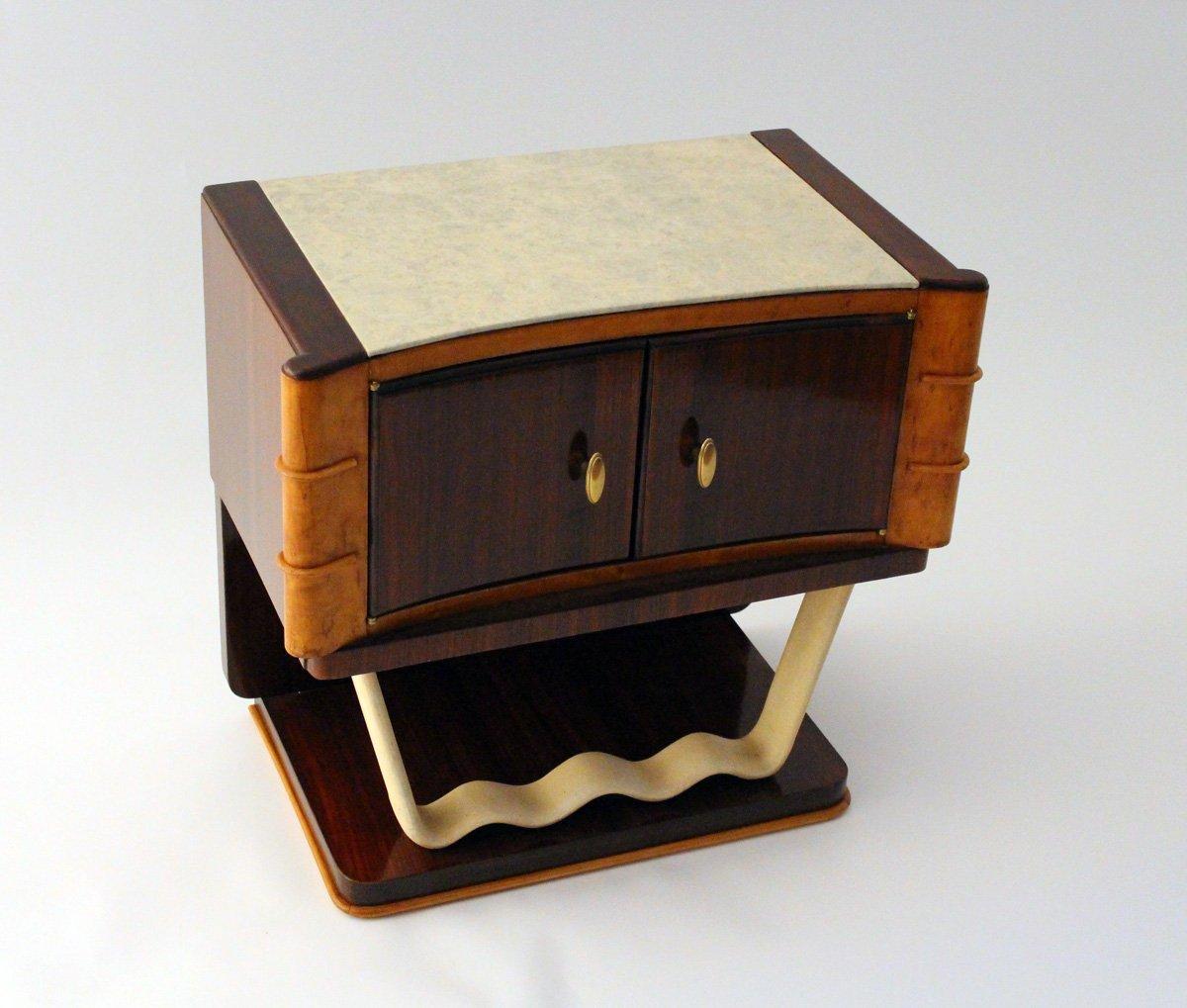 Vintage nachttische von oswaldo borsani f r mobili trieste for Vintage nachttische