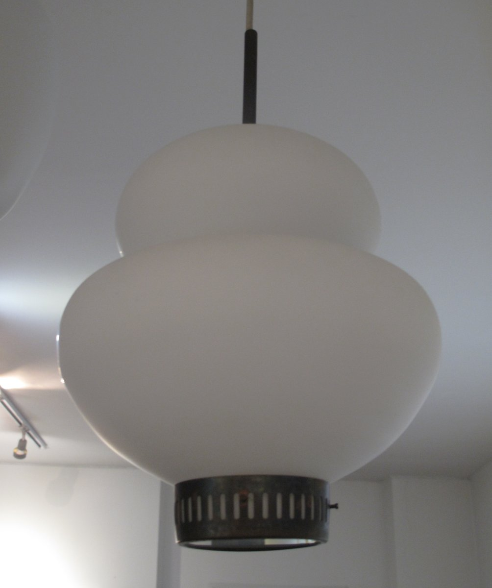 Dänische Vintage Deckenlampe von Bent Karlby für Lyfa