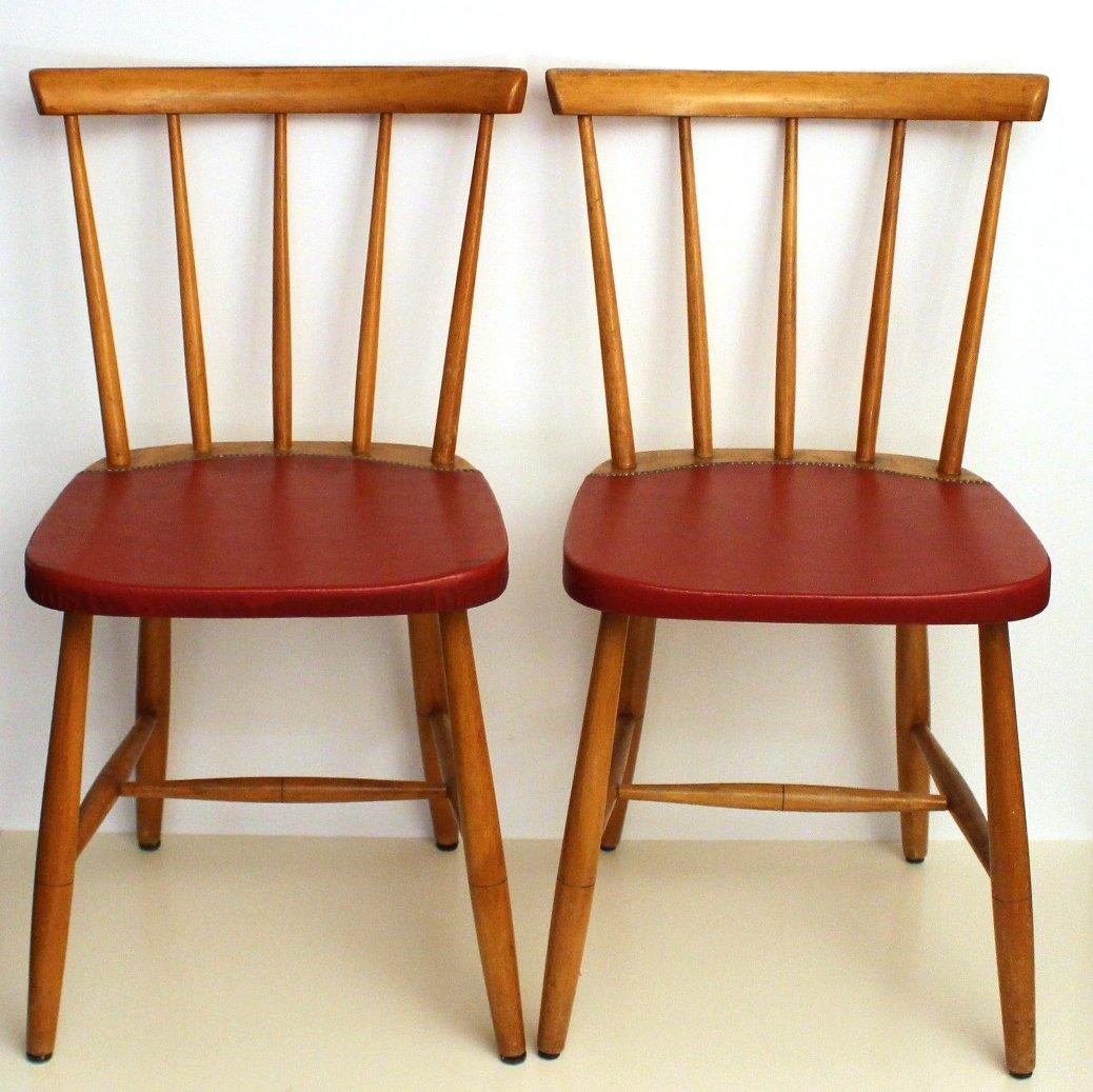 Mid-Century Vintage Dining Chairs, 1960s, Set of 4 - Mid-Century Vintage Dining Chairs, 1960s, Set Of 4 For Sale At Pamono