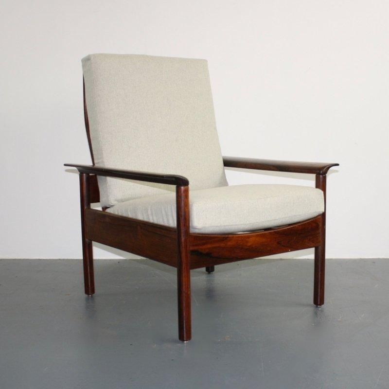 Mid-Century Palisander Sessel von Hans Olsen