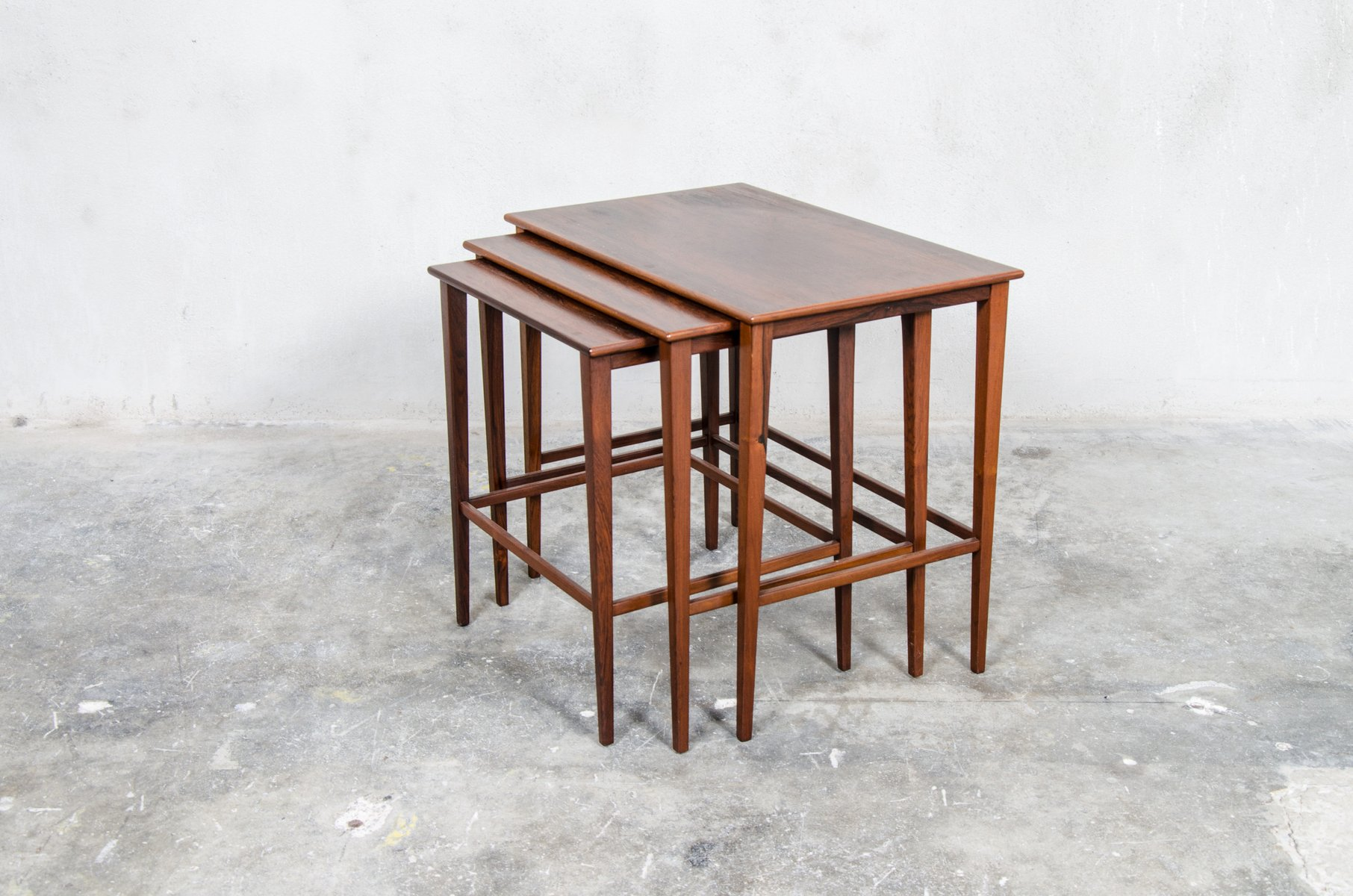 Danish Matching Teak Nesting Tables 1960s
