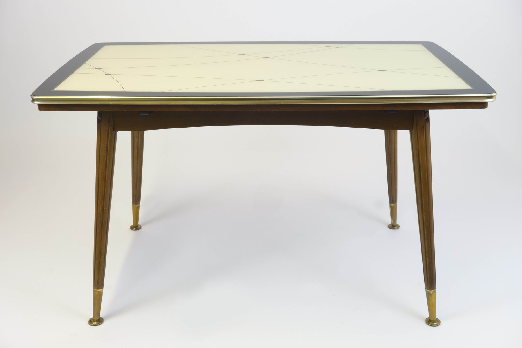 table d 39 appoint vintage avec dessus en verre 1961 en vente sur pamono. Black Bedroom Furniture Sets. Home Design Ideas