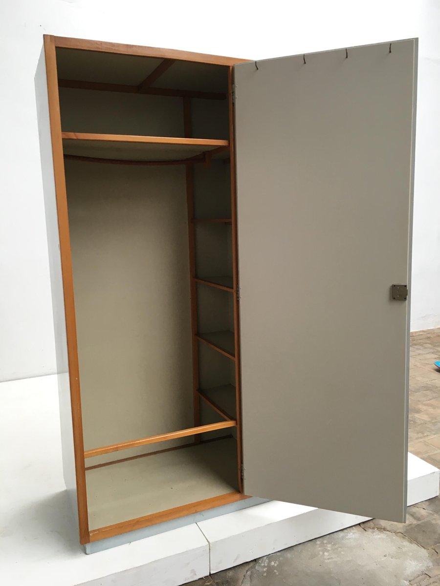 pavatex hardboard birke kleiderschrank von piet zwart f r bruynzeel 1950er bei pamono kaufen. Black Bedroom Furniture Sets. Home Design Ideas