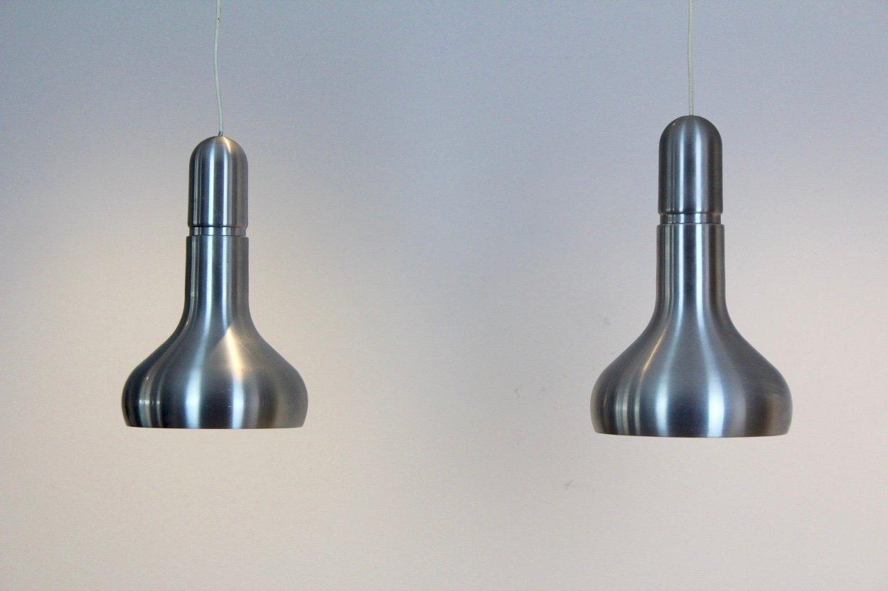 Dänische Leuchten aus Aluminium, 1960er, 2er Set