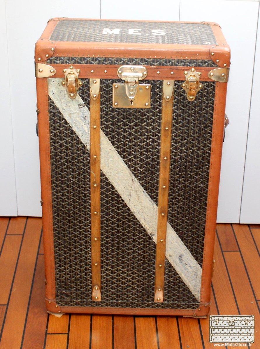 travelling wardrobe trunk from goyard 1910s - Wardrobe Trunk