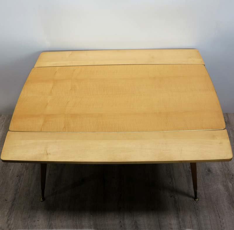 ausziehbarer vintage tisch 1950er bei pamono kaufen. Black Bedroom Furniture Sets. Home Design Ideas