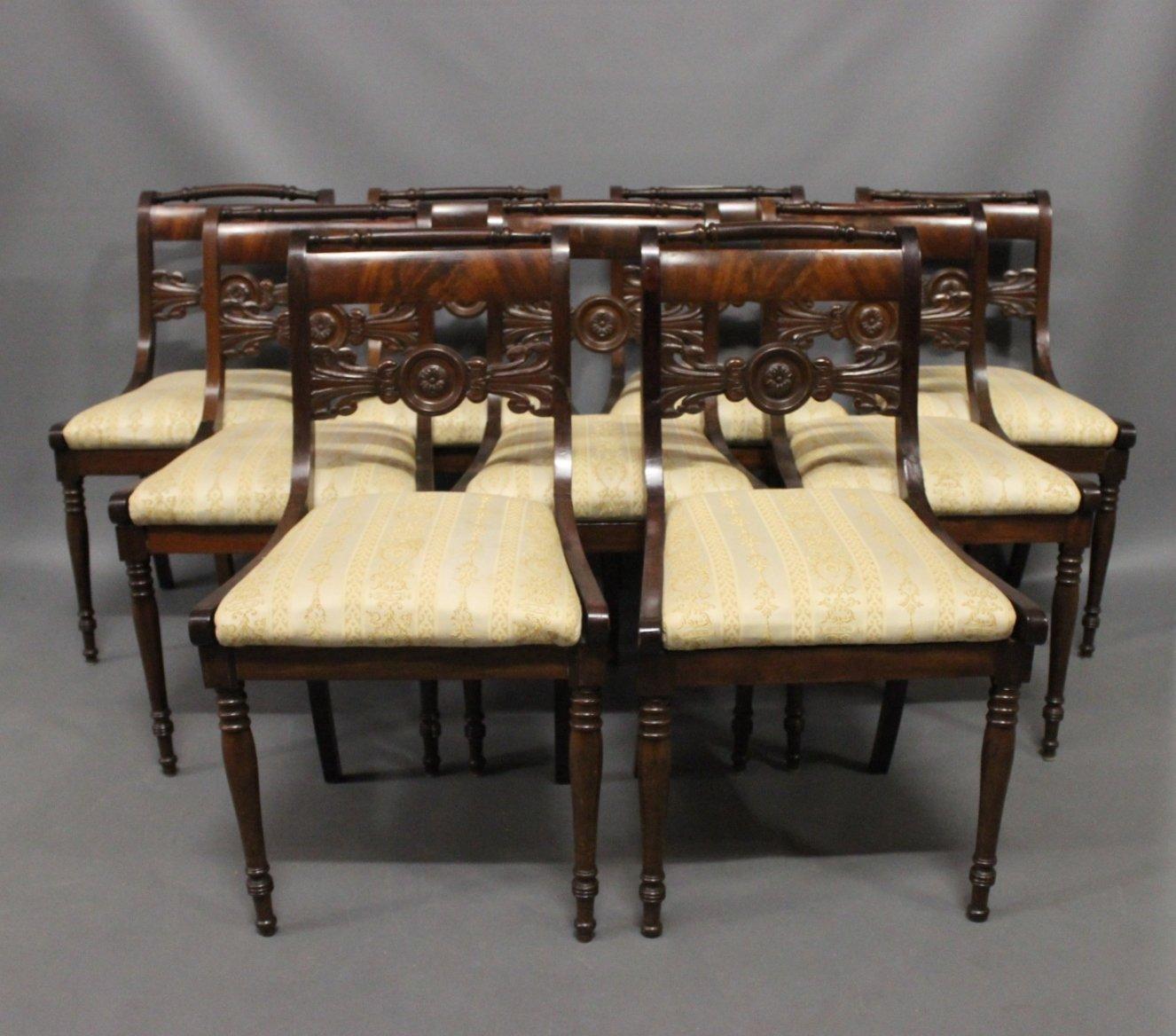 Antique Danish Chairs, 19th Century, Set of 9 - Antique Danish Chairs, 19th Century, Set Of 9 For Sale At Pamono