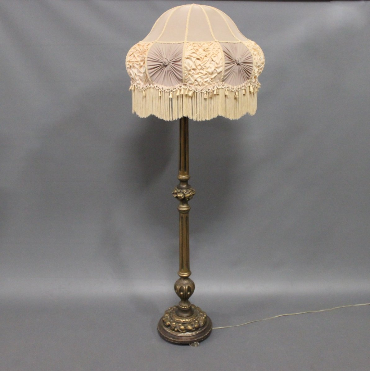 Antique floor lamp in gilded wood 1920s for sale at pamono antique floor lamp in gilded wood 1920s aloadofball Gallery
