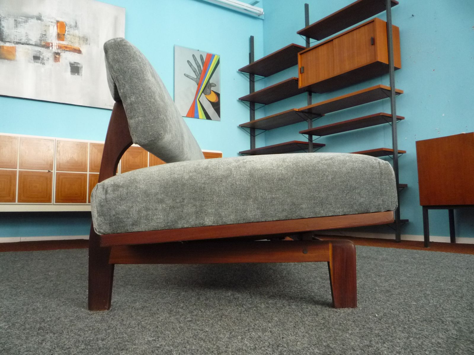 deutsches modell 470 teak tagesbett von hans bellmann f r wilkhahn 1960er bei pamono kaufen. Black Bedroom Furniture Sets. Home Design Ideas