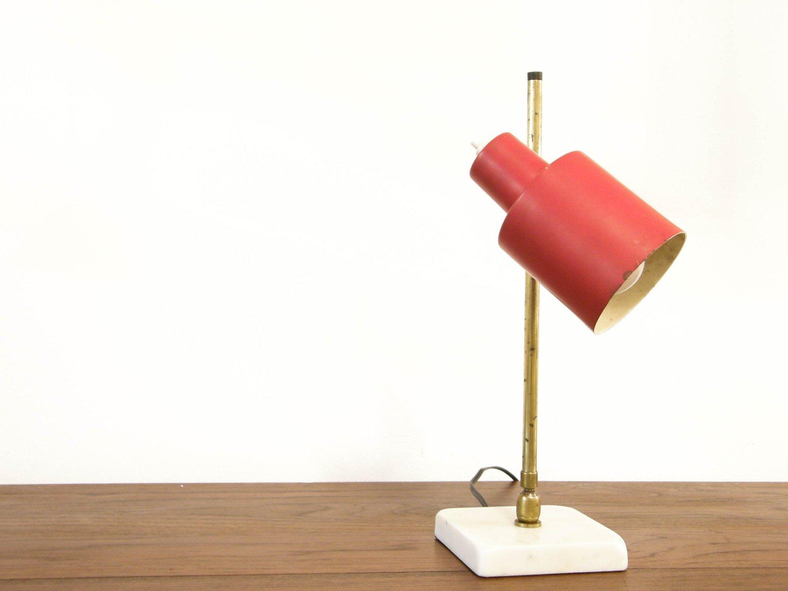 Italienische Schreibtischlampe mit Marmorfuß, 1950er