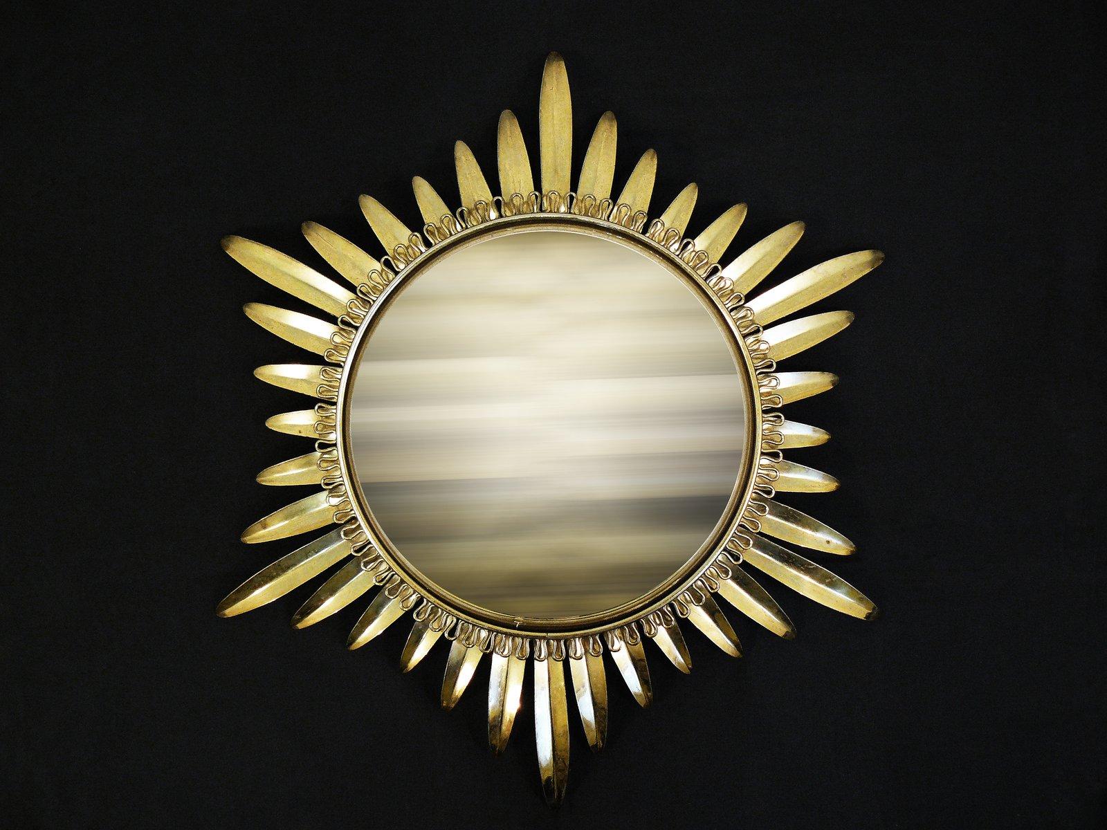 Specchio convesso a forma di sole francia anni 39 50 in vendita su pamono - Specchio a forma di sole ...