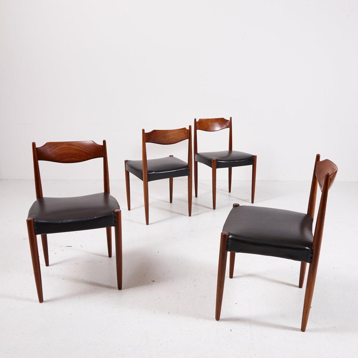 d nische esszimmerst hle aus palisander 4er set bei pamono kaufen. Black Bedroom Furniture Sets. Home Design Ideas