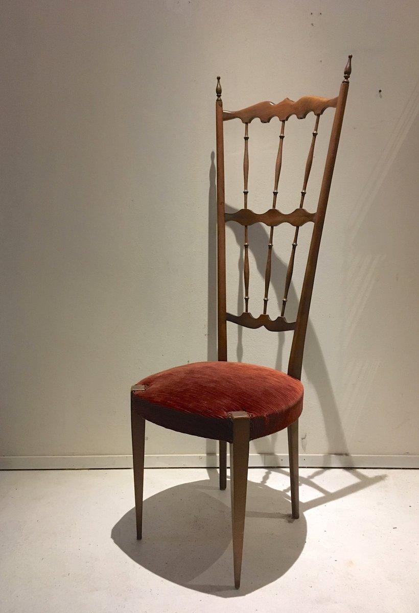 Sedia con schienale alto Chiavari, Italia, anni \'40 in vendita su Pamono
